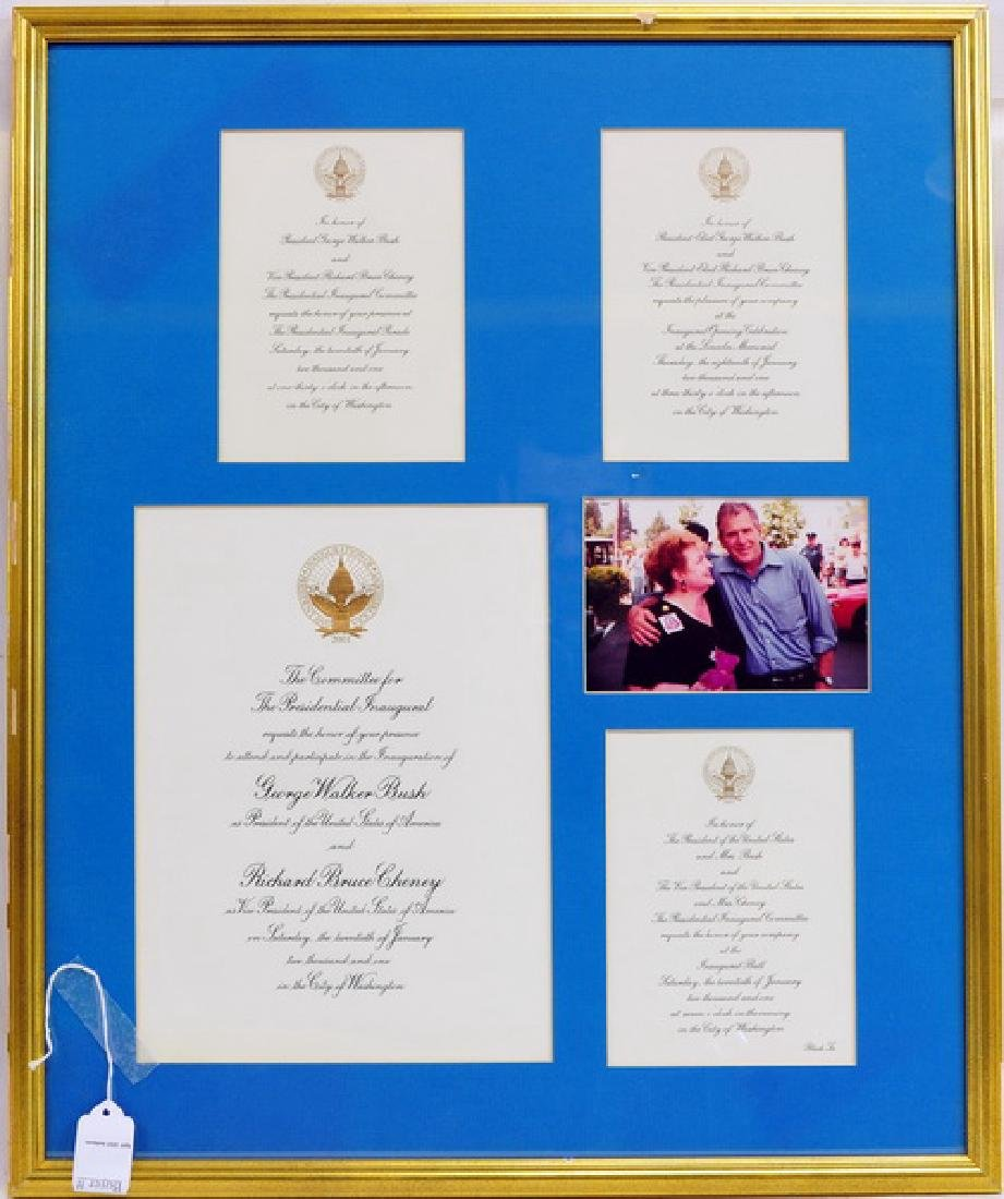 George W. Bush Inauguration Framed Piece