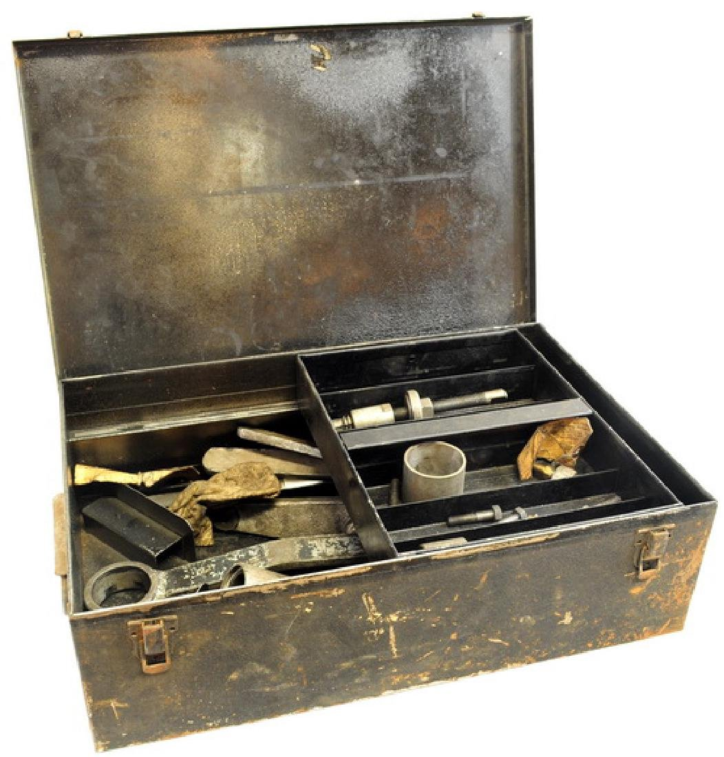Two Antique Tool Boxes Filled With Tools
