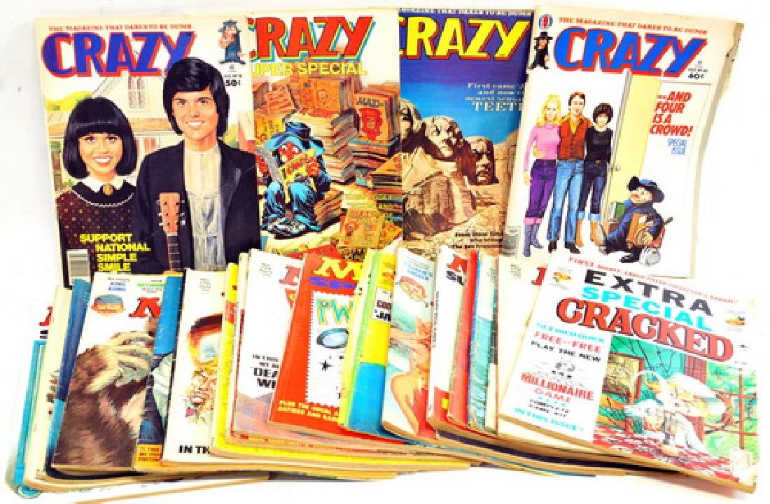 Two Boxes of Mad Magazines/Comics