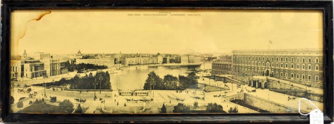 Panoramic Lithograph of Stockholm Sweden