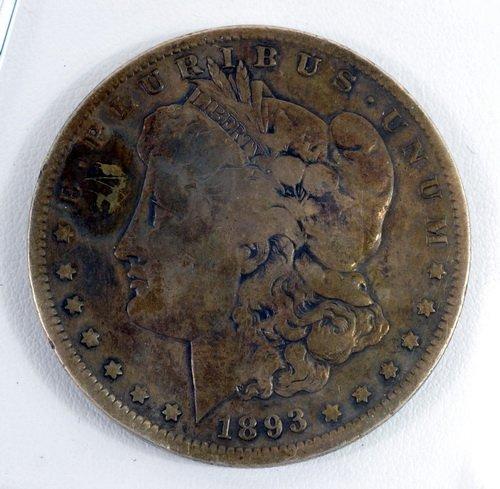 1893-s Morgan Silver Dollar Ungraded