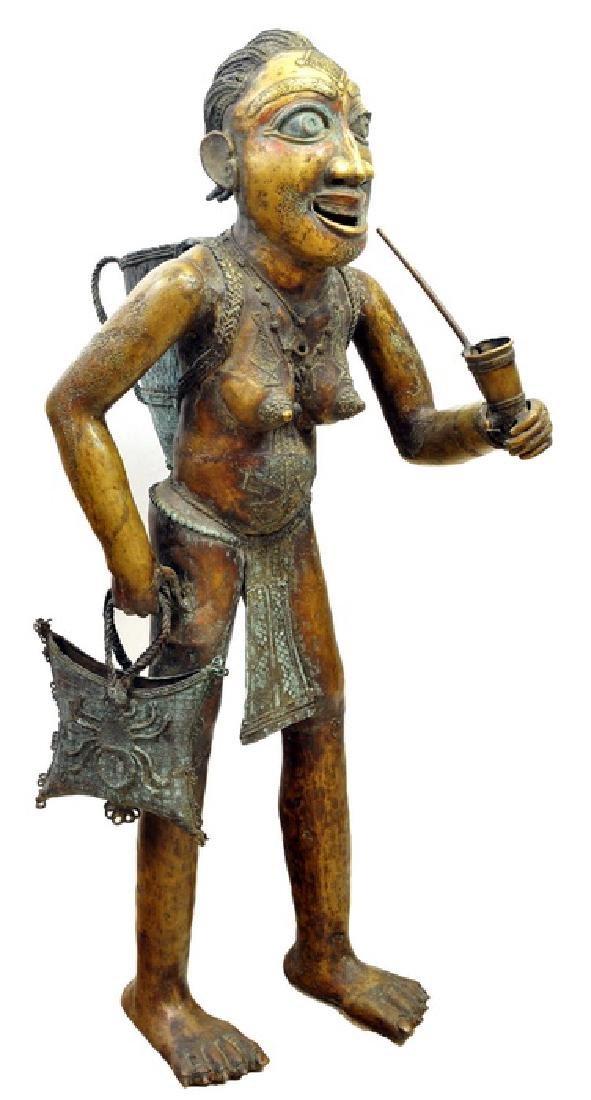 Old Tikar Bronze Queen Mother Statue 1930