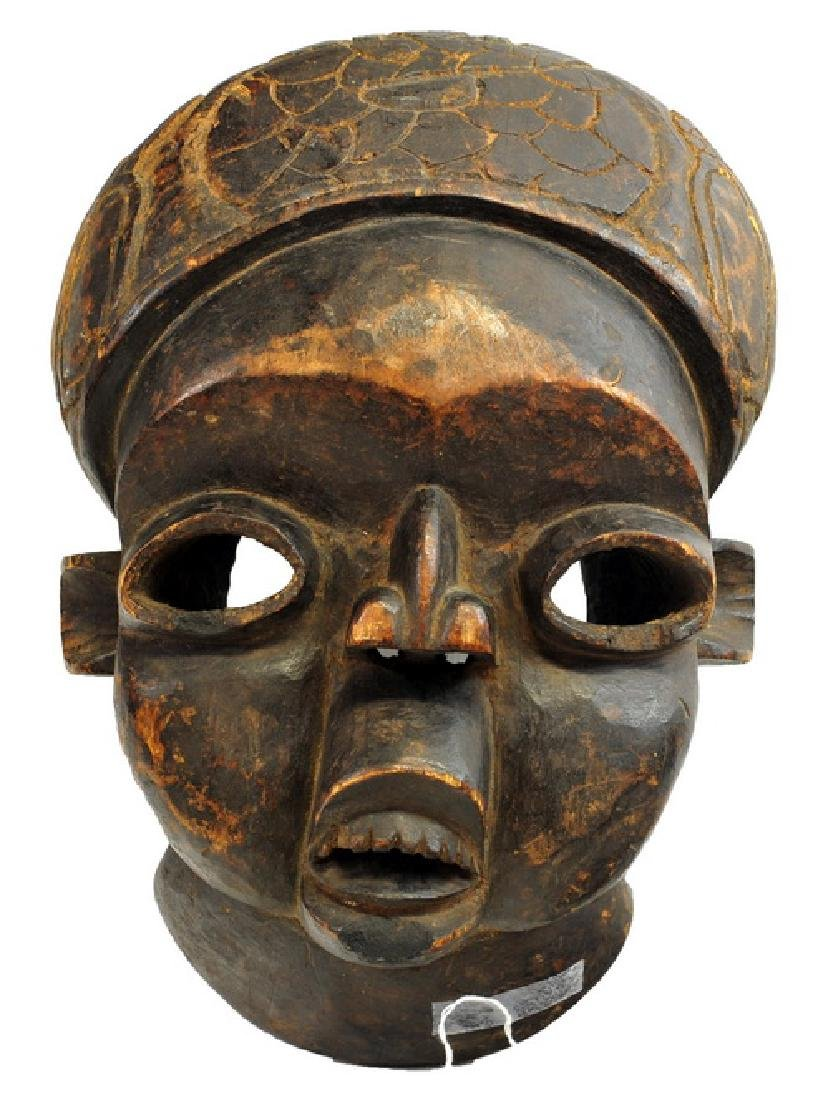 African Artifact  Carved Cameroonian Kings Mask