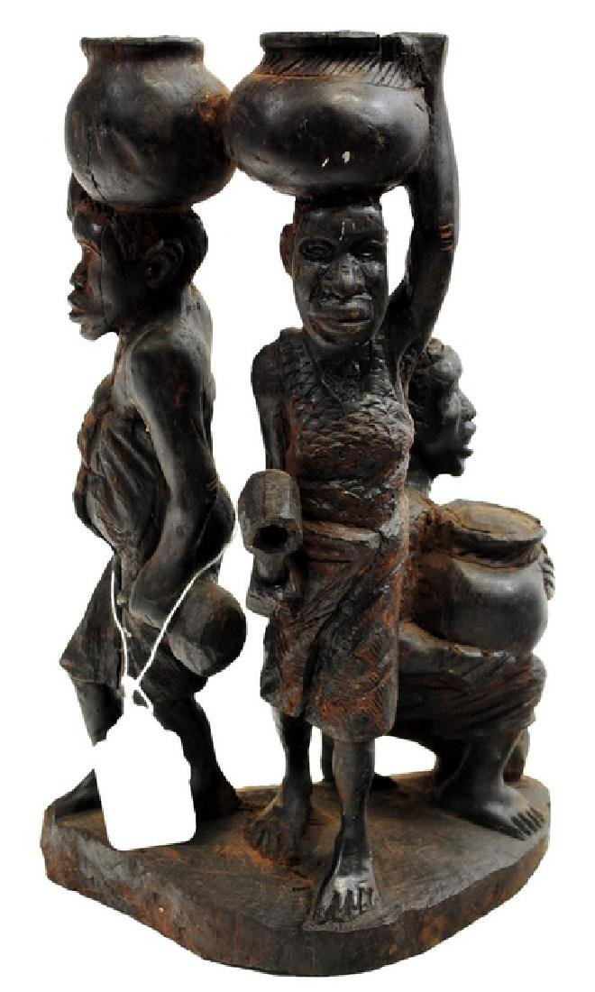 African Artifacts Two Angola Carved Females