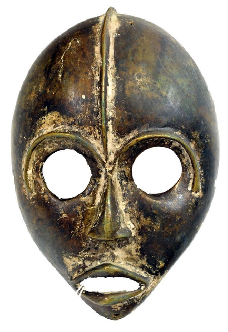 African Artifact  Bronze Dan Mask
