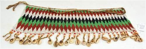 African Artifact  Zulu Beaded Skirt