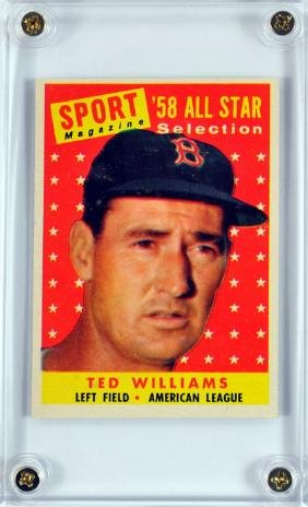 1959 Topps Ted Williams All-star Card