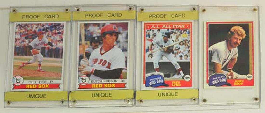 15 1970's and 80's Red Sox Proof Blank Back Cards