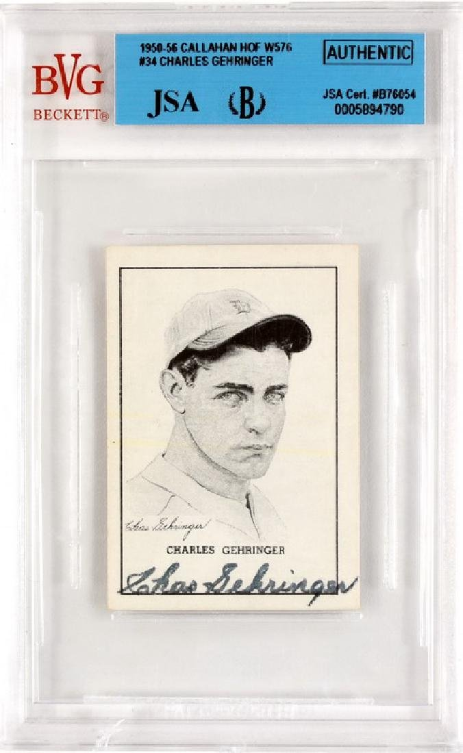 1950-56 Callahan W576 Charles Gehriger Auto