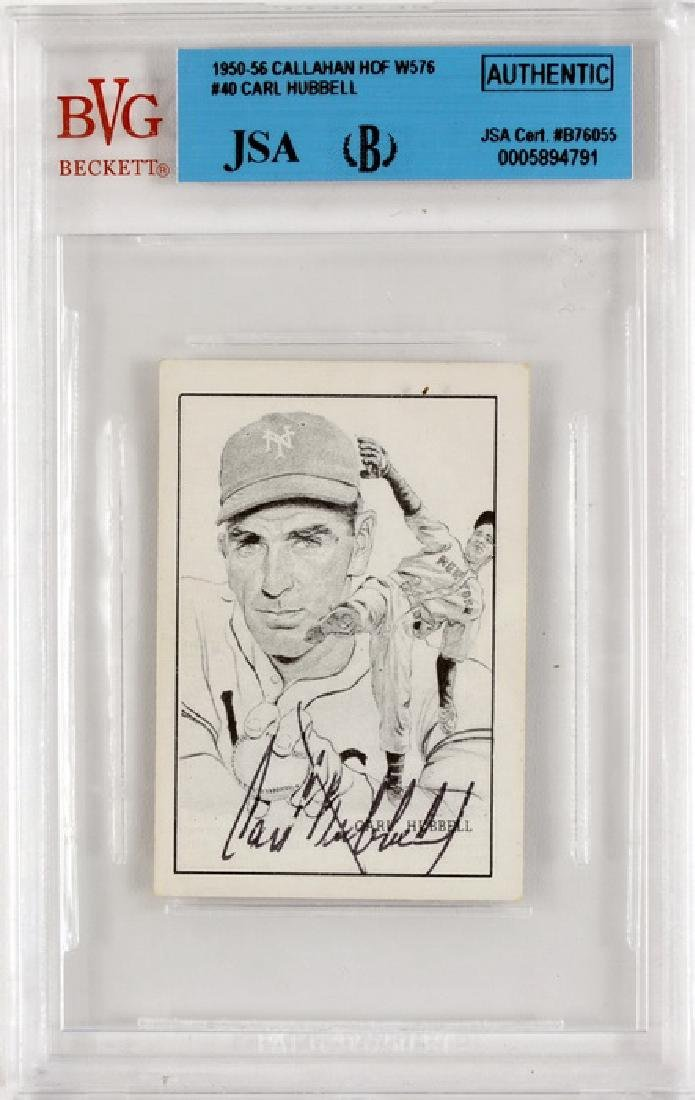 1950-56 Callahan Of W576 Carl Hubbell Auto