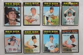 50 1971 Topps Red Sox Cards