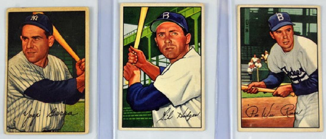 9 1952 Bowman Baseball Card Stars