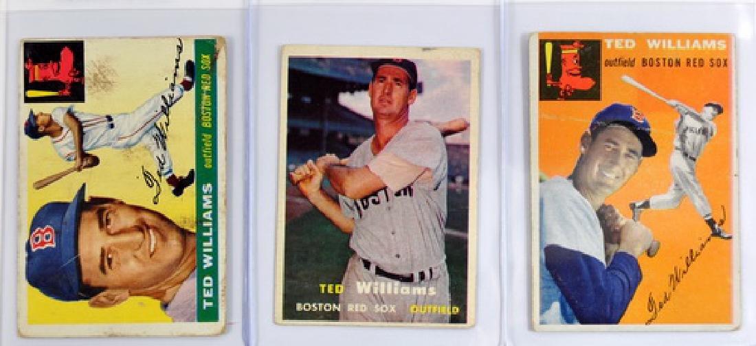 Three Vintage Ted Williams Cards