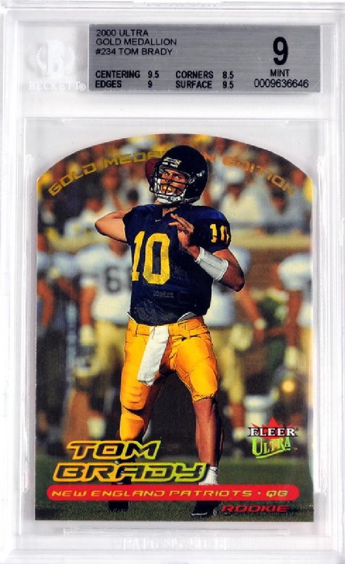 2000 Ultra Tom Brady Rookie Card Bvg 9