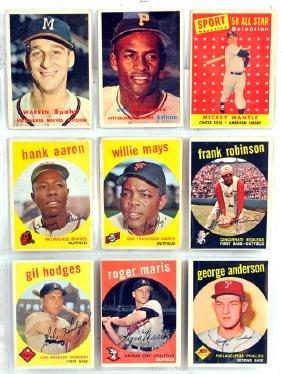 9 1959 Topps Baseball Stars