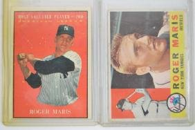 Two 1960's Roger Maris Cards(60 and 61)