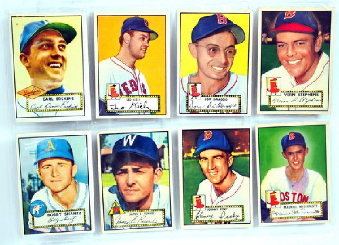 16 1952 Topps Baseball Cards