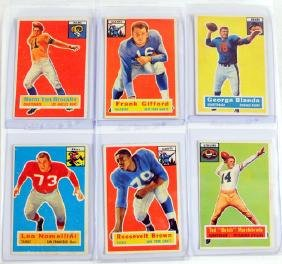 9 1956 Topps Football Cards