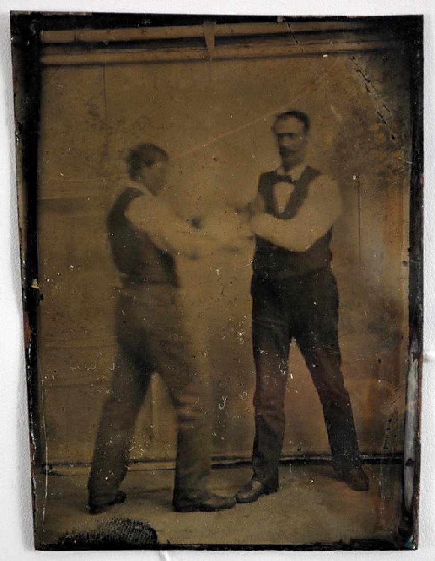 1890's Boxing Tin Type