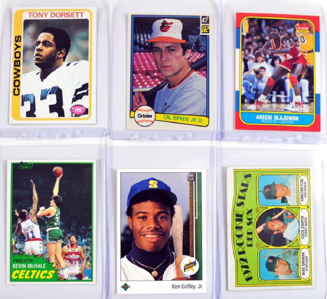 10 Sports Rookie Cards Dorsett, Fisk, Griffey