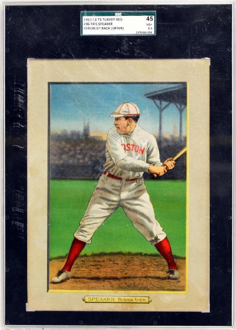 1910-11 T3 Turkey Red Tris Speaker Back Offer