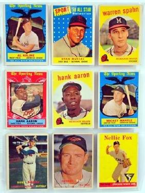 18 1950's Topps Baseball HOF