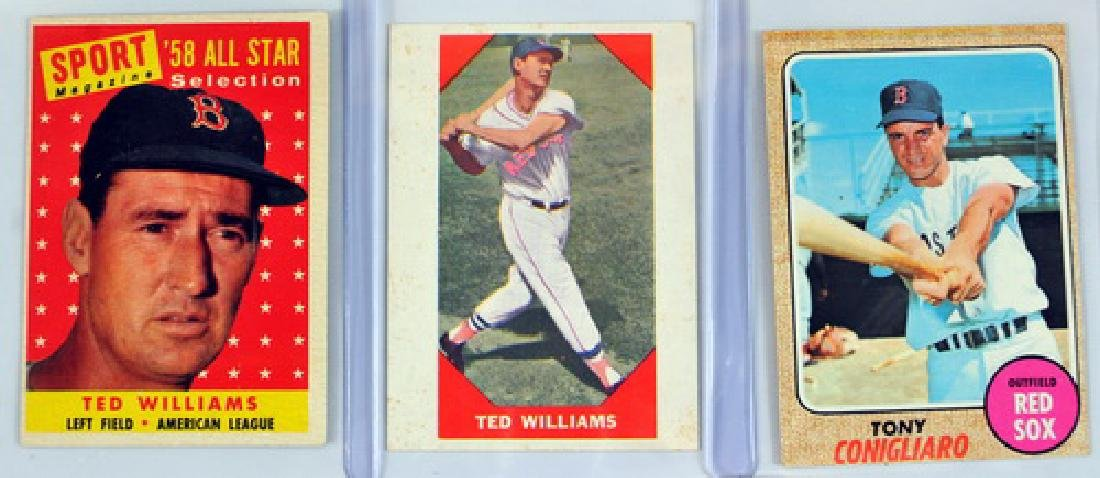 11 Vintage Red Sox Star Player Cards