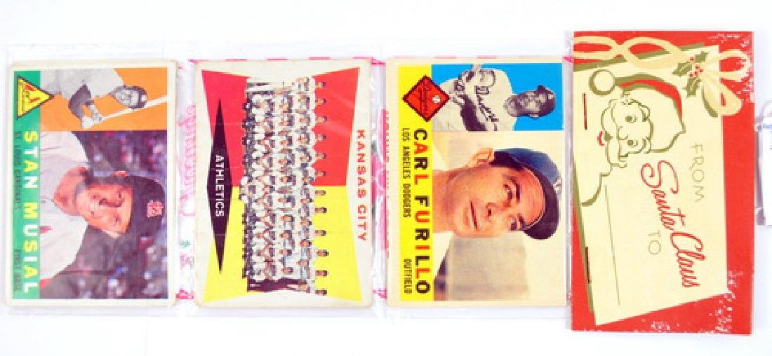 1960 Topps Christmas Rack Pack Stan Musial On Top