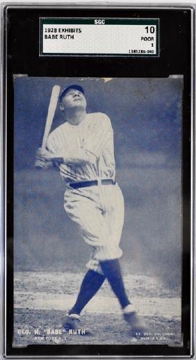 1928 Exhibit Card Babe Ruth Sgc 10