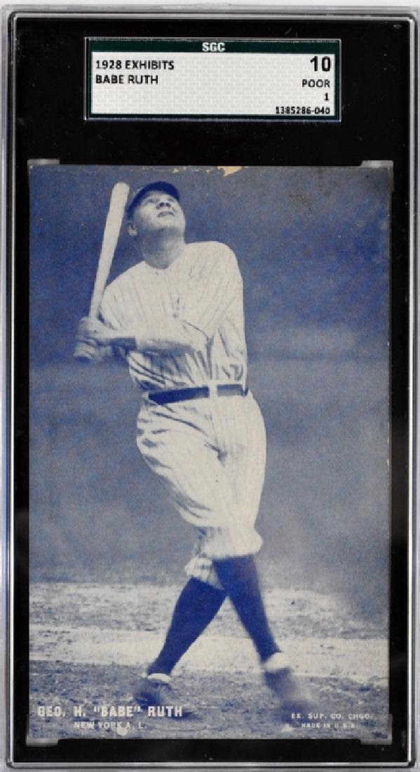 1928 Exhibit Card Babe Ruth Sgc 10