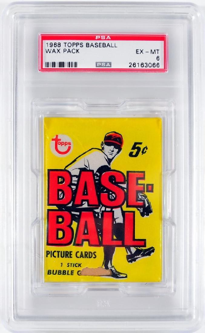1968 Topps Baseball Graded Wax Pack PSA 6