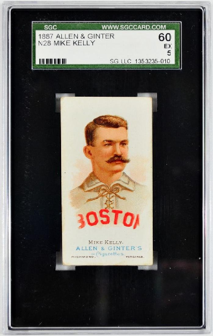 1887 Allen and Ginter King Kelly SGC 60 EX 5