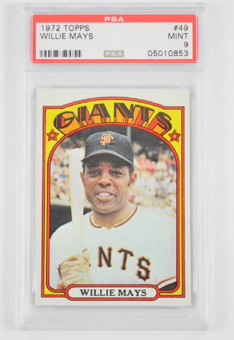 1972 Topps Willie Mays Psa Mint 9