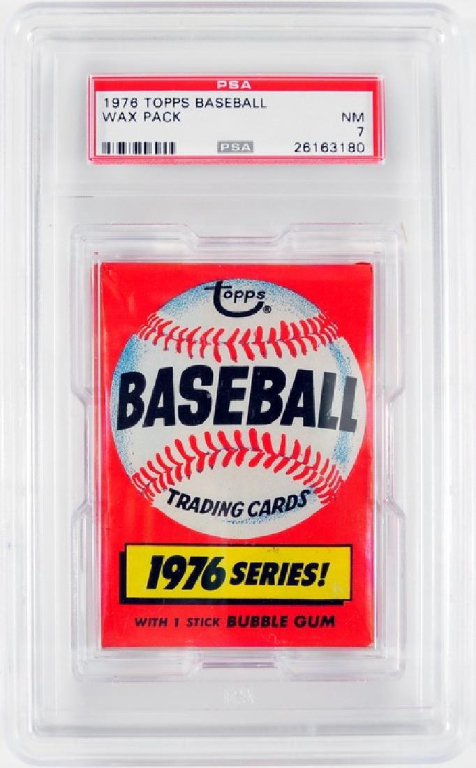 1976 Topps Baseball Graded Wax Pack PSA NM 7