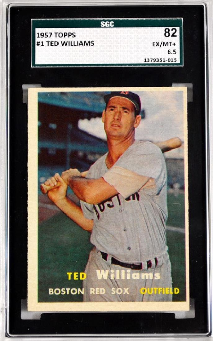 1957 Topps Ted Williams Sgc 82 Ex/mt+ 6.5
