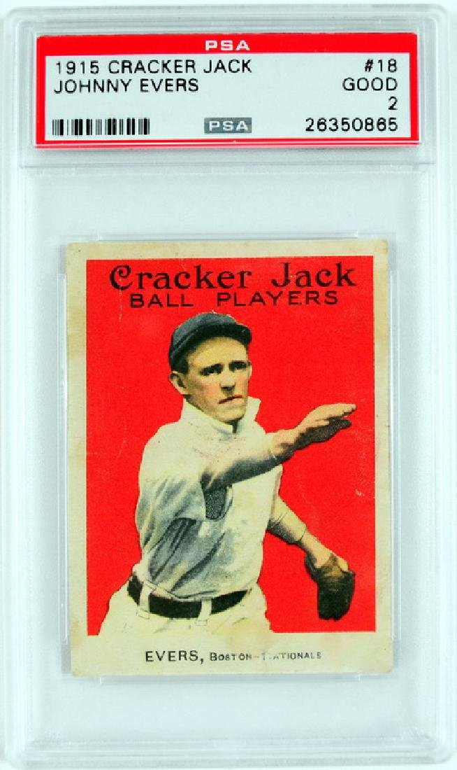 1915 Cracker Jack Johnny Evers PSA Good 2