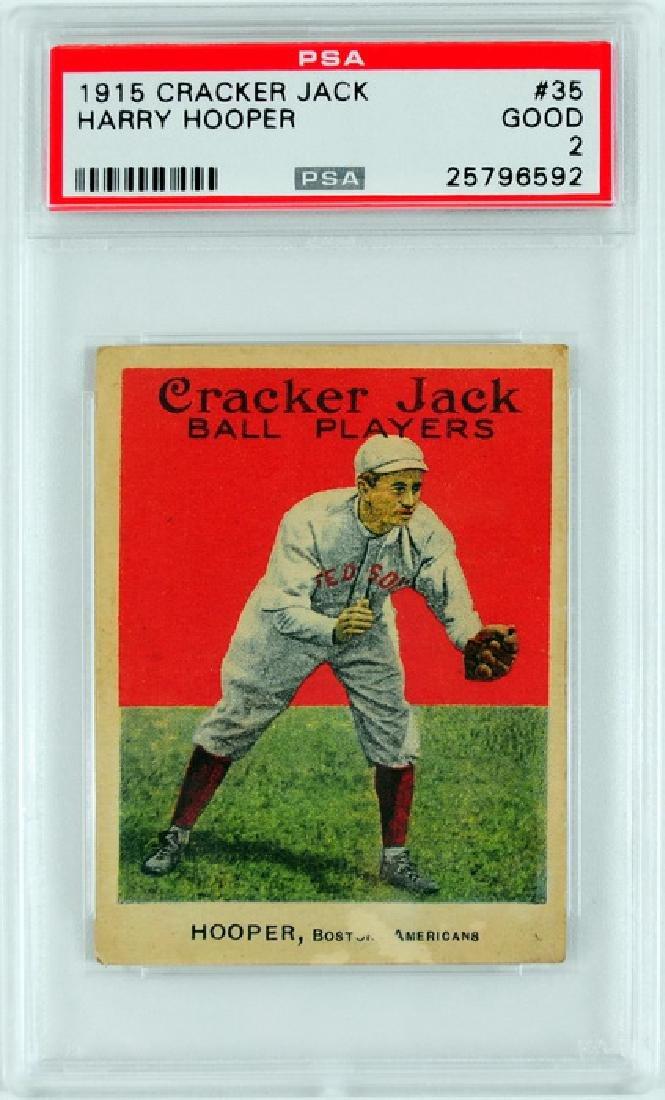 1915 Cracker Jack Harry Hooper PSA Graded Good 2