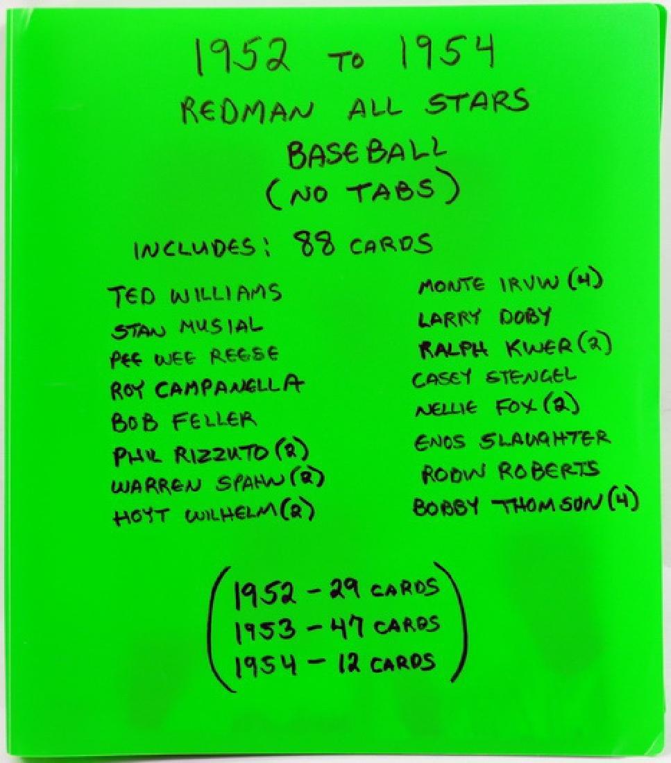 88 1952-1954 Red Man All-Stars Baseball