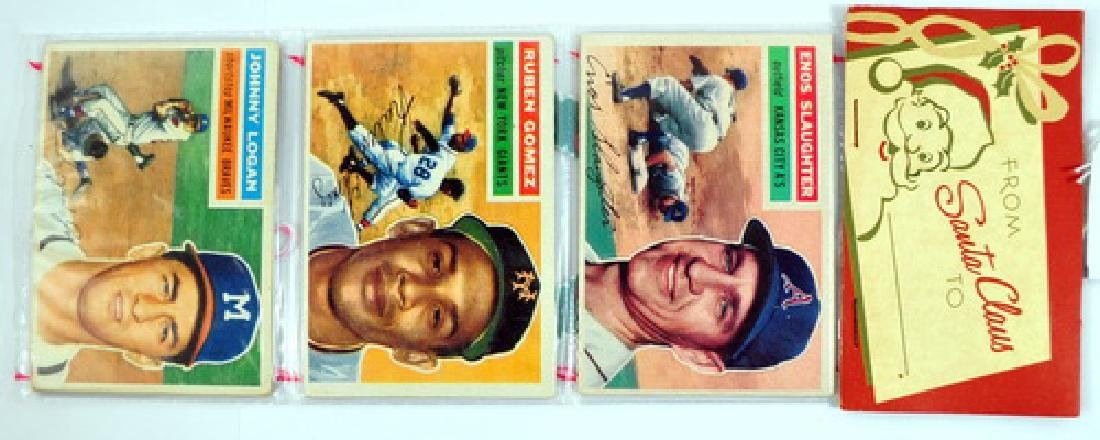 1956 Topps Christmas Rack Pack with Enos