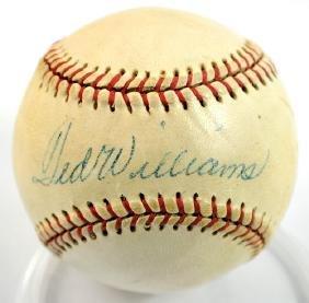 Ted Williams Autographed Baseball Jsa Loa
