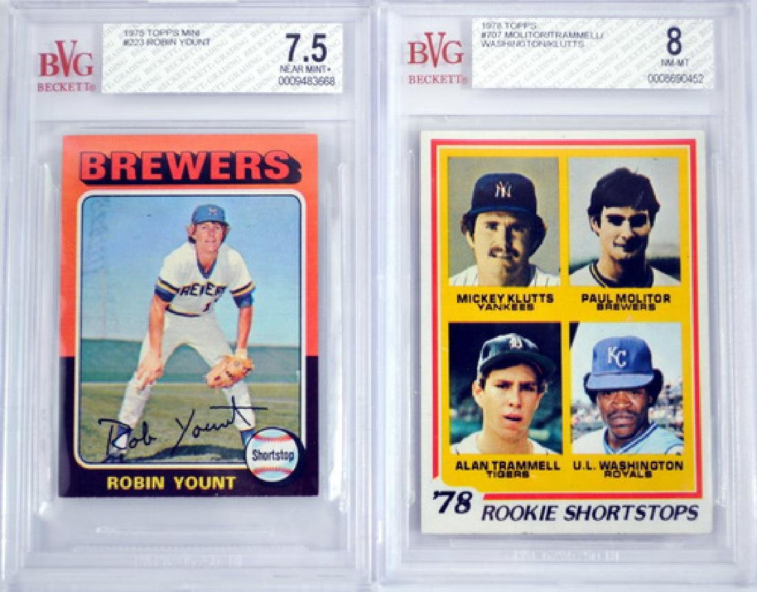 1975 And 1978 Baseball Graded Rookie Lot