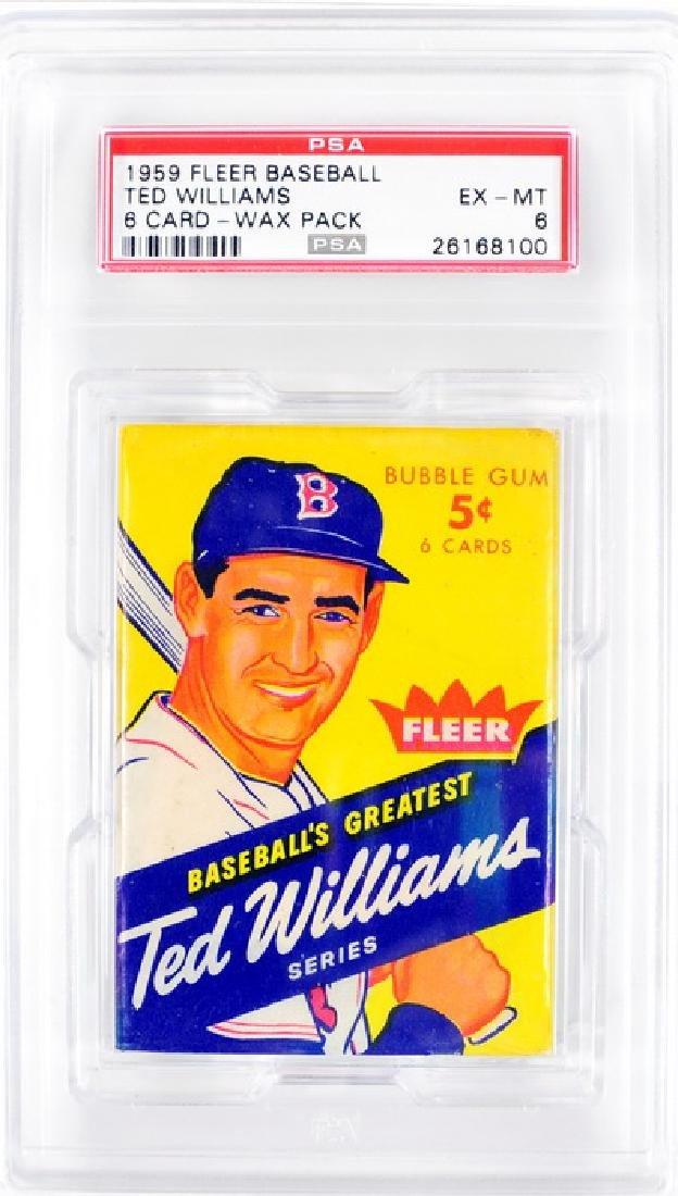 1959 Fleer Ted Williams Unopened Graded Wax Pack