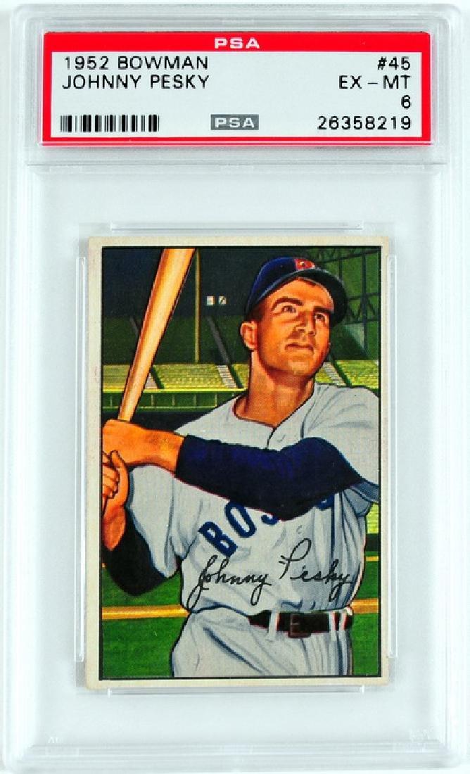 1952 Bowman Johnny Pesky PSA 6