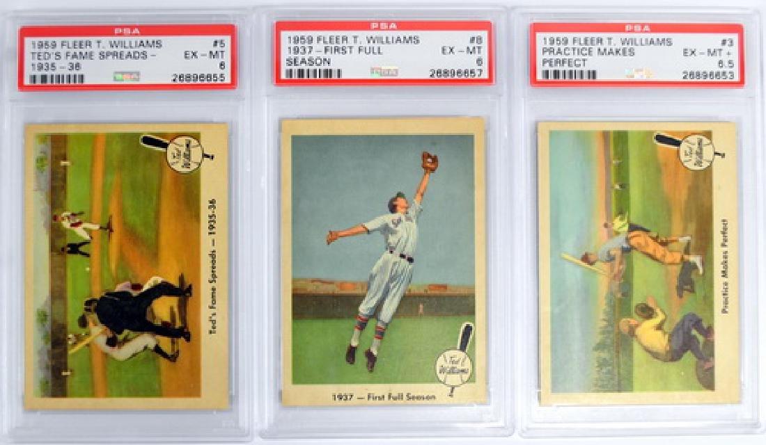9 1959 Fleer Ted Williams Psa 6 Graded Cards