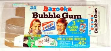 Three Vintage Bazooka Bubble Gum Boxes with Cards