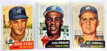 47 1953 Topps Baseball Cards Jackie Robinson