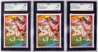 12 1984 Topps Dan Marino Graded Rookie Cards