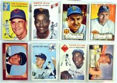 16 1952-56 Baseball Cards