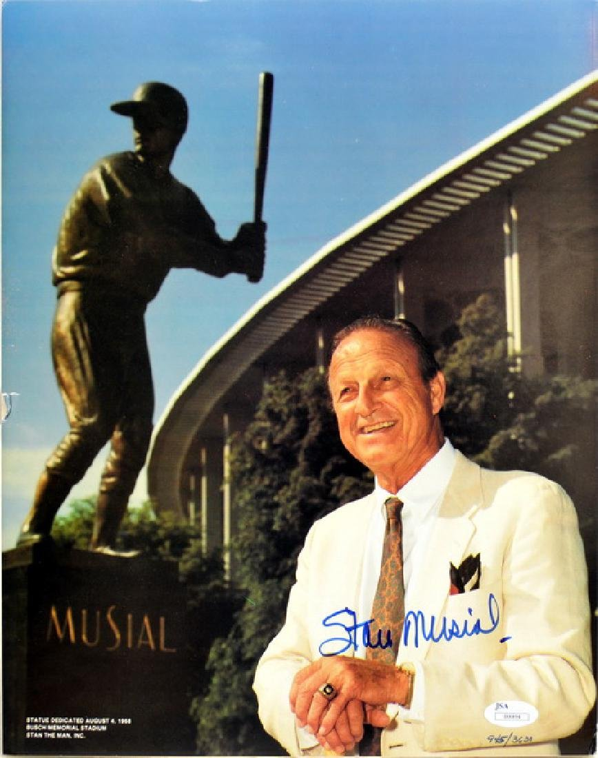 Stan Musial Signed Poster Board 945/3638