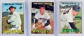 25 Different 1967 Topps Baseball Cards